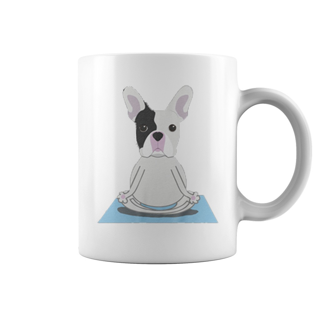 French Bulldog Yoga Coffee Mug