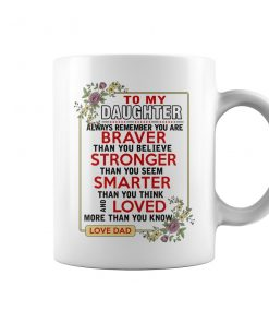 To My Daughter From Dad Coffee Mug