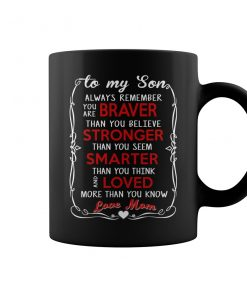 To My Son Love Mom Coffee Mug