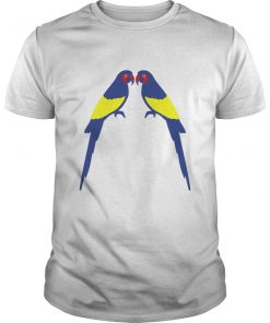 Funny Two Parrots Hawaiian T-Shirt