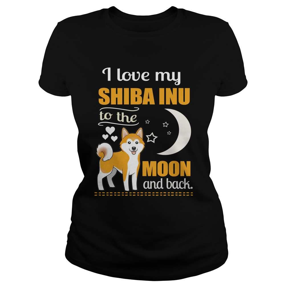 I Love My Shiba Inu To The Moon T-Shirt
