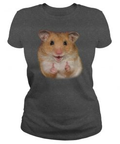 Hello Hamster Dark Grey Ladies T-Shirt
