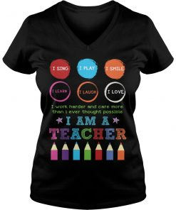 I Am A Teacher T-Shirt V Neck