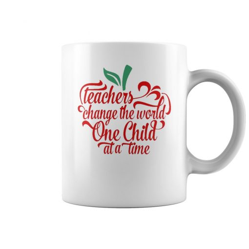 Teachers Change The World One Child At A Time Coffee Mug