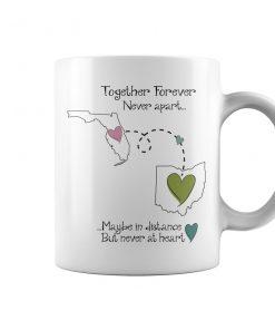 Florida Ohio Together Forever Never Apart Coffee Mug