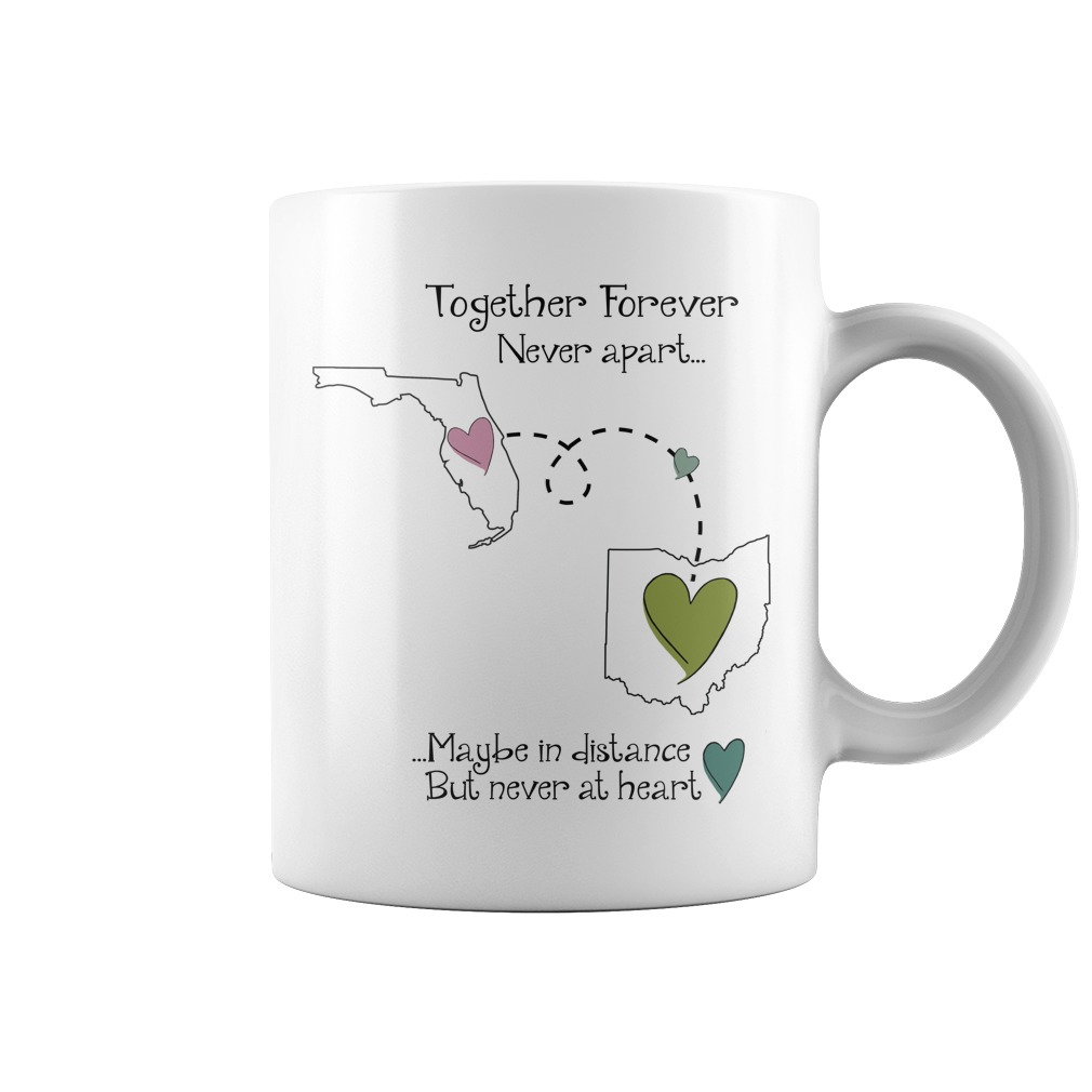 Florida Ohio Together Forever Never Apart Coffee Mug
