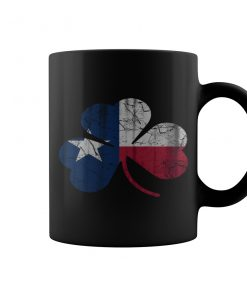 Vintage Irish Flag Of Texas Shamrock Coffee Mugs