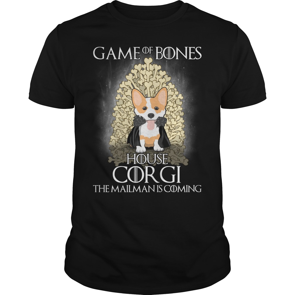 Game Of Bones House Corgi T-Shirt The Mailman Is Coming