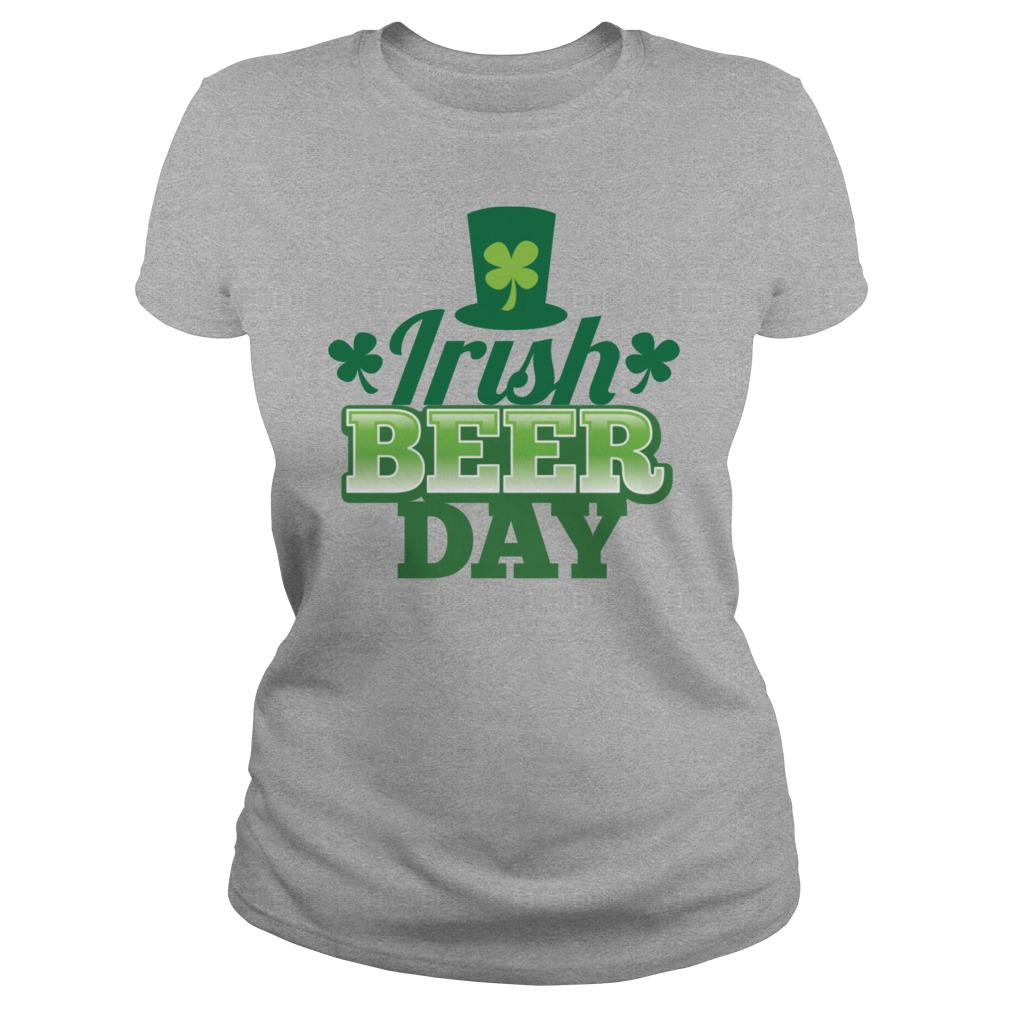 Irish Beer Day Shamrock Hat T-Shirts