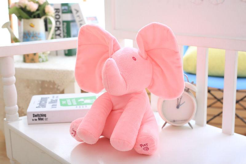 Elephant Peek A Boo Plush Toy