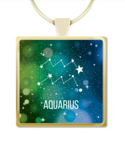 Aquarius Square Necklace