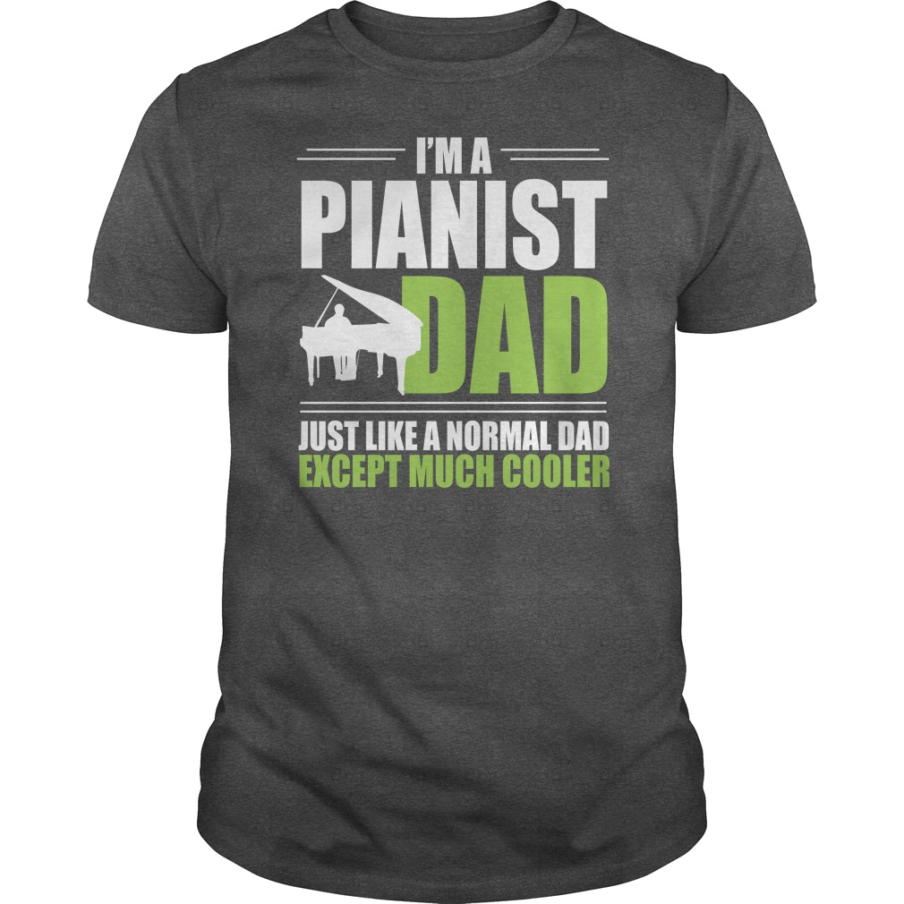 Cool Pianist Dad T-Shirt