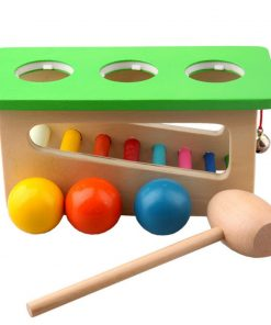 Baby Wood Sound Knock Ball Percussion Punch Drop Toy