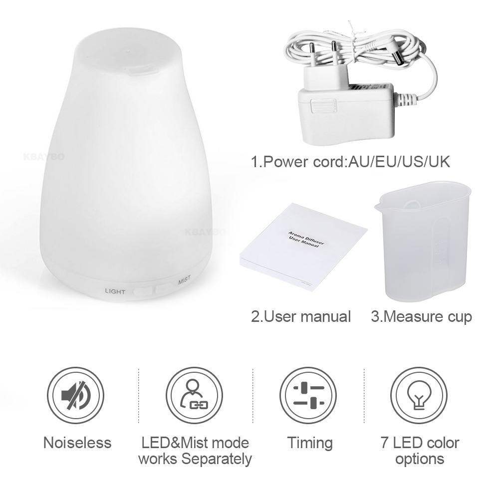 Aroma Essential Oil Diffuser Ultrasonic Therapy Air Humidifier Mist Automatic