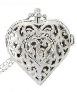 Vintage Antique Pocket Watch Heart Shape