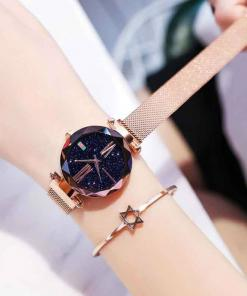 Women Starry Sky Magnetic Waterproof Watches
