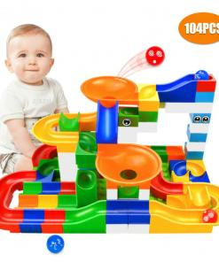 Marble Race Run Maze Ball Building Blocks