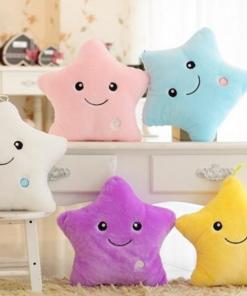Glowing Star Plush Pillow