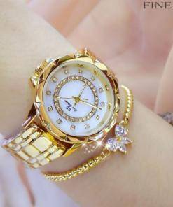BS Bee Sister Women Fashion Luxury Rhinestone Bracelet Watches