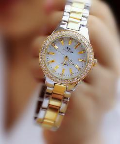 Bee Sister Ladies Crystal Stainless Steel Bracelet Watch