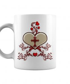 Warm Hearts Flowers Valentines Day Mugs