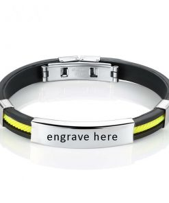 Engrave Bangle Bracelet Stainless Steel